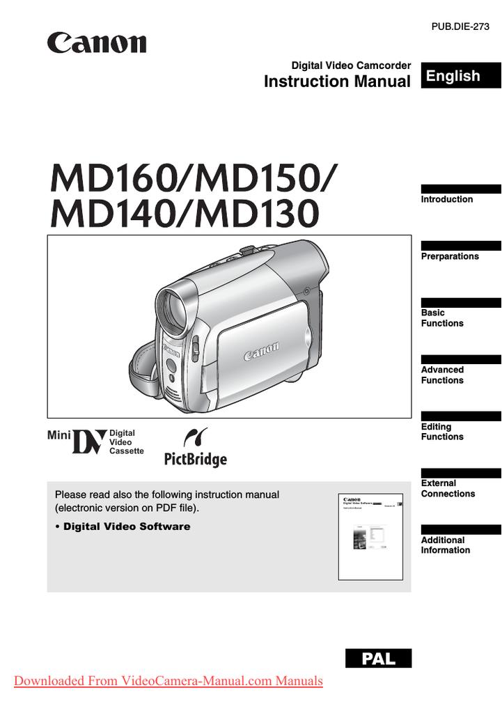Canon MD140 Instruction manual   manualzz com