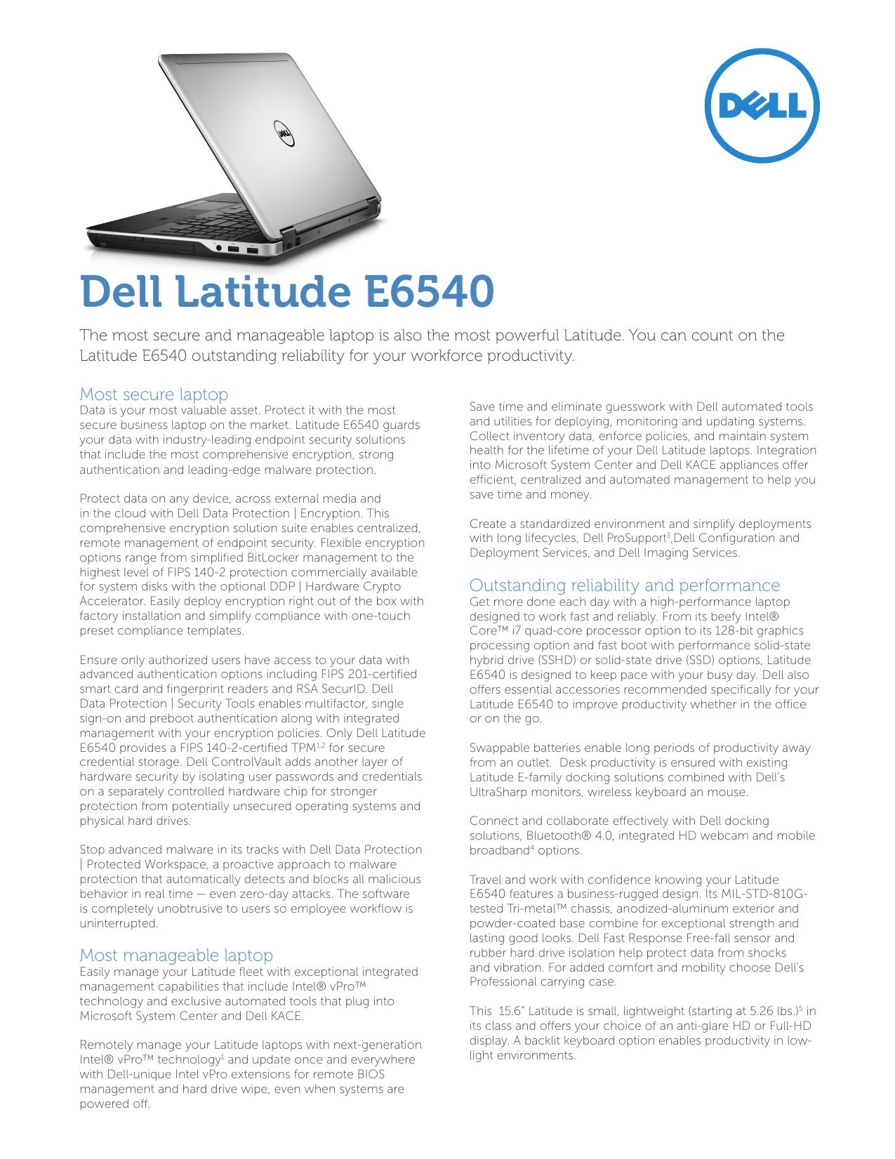 Dell Latitude E6540 | manualzz com