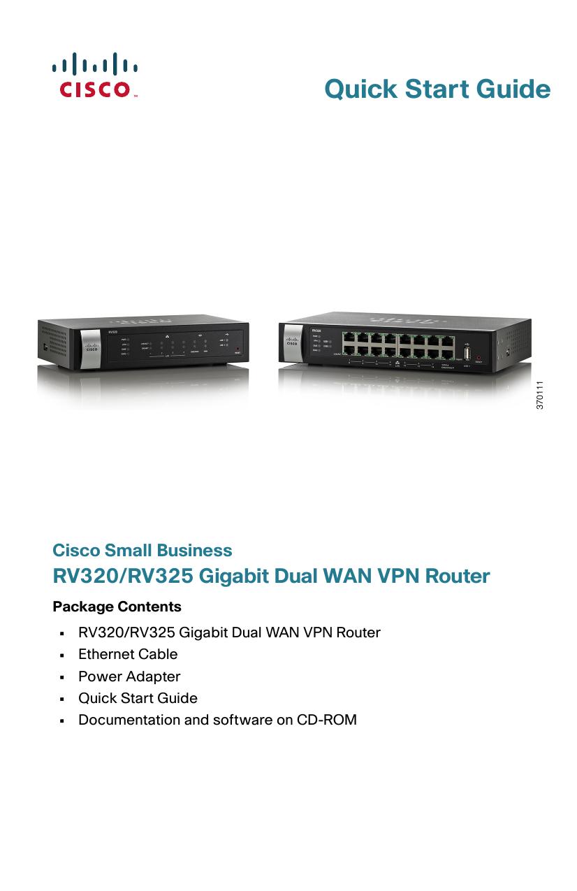 Cisco Small Business RV320/RV325 Gigabit Dual WAN | manualzz com