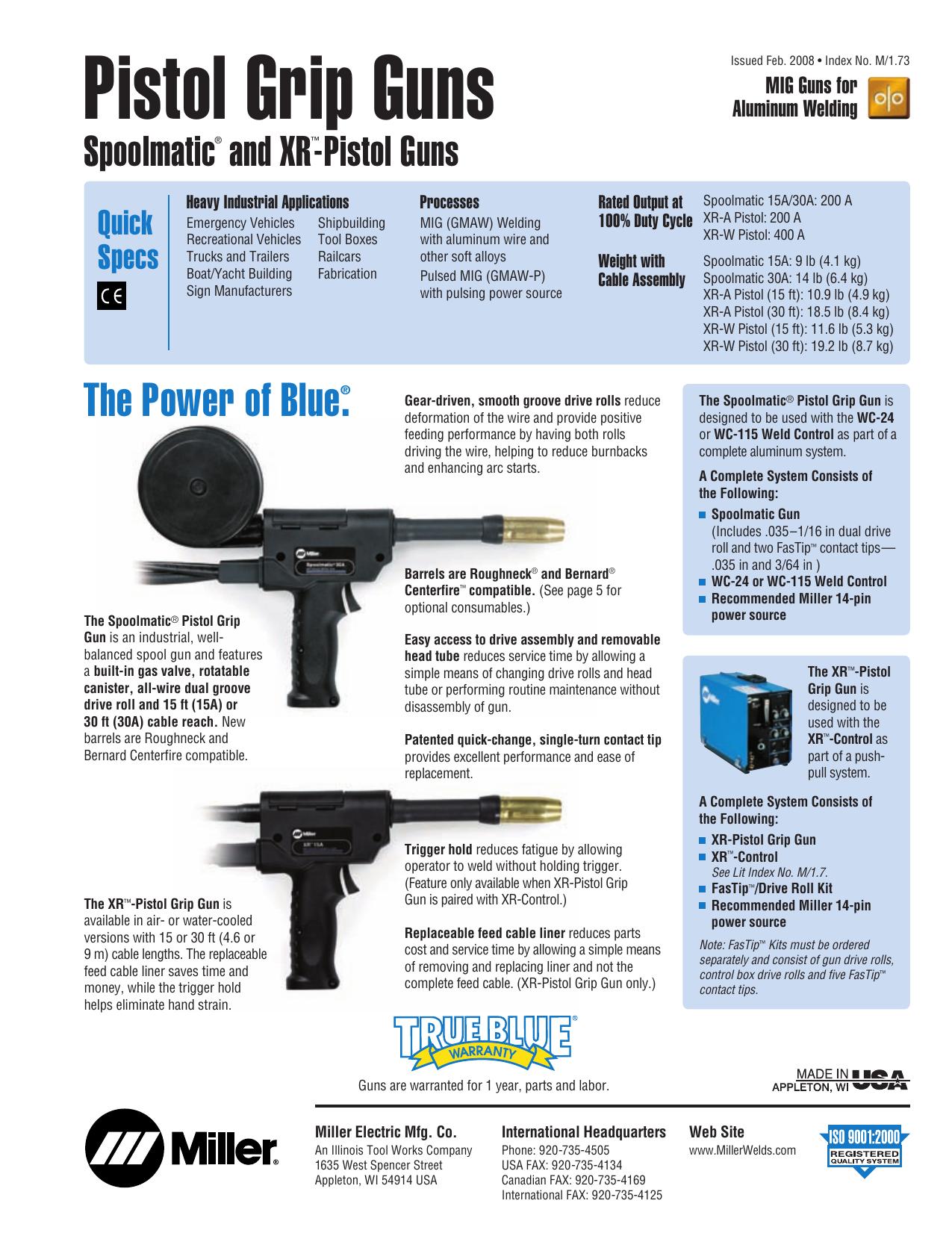 A M1 73 Spoolmatic Xr Pistol Guns Qxd A M1 Manualzz Com