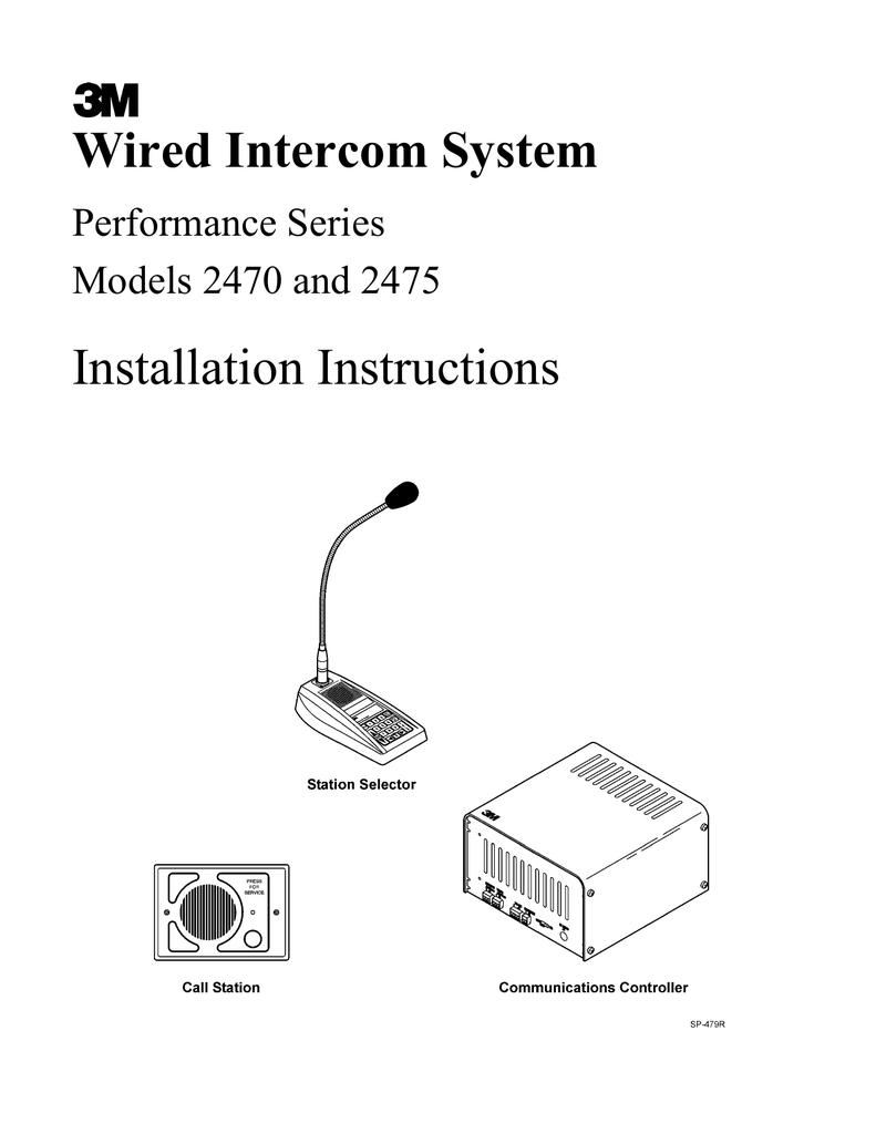 3M 2470 Intercom System User Manual | manualzz.com M Amp S Intercom Wiring Diagram on intercom circuit diagram, intercom schematic diagram, intercom connection diagram, cat5e diagram, intercom cable, security diagram, sample block diagram, door bell diagram,