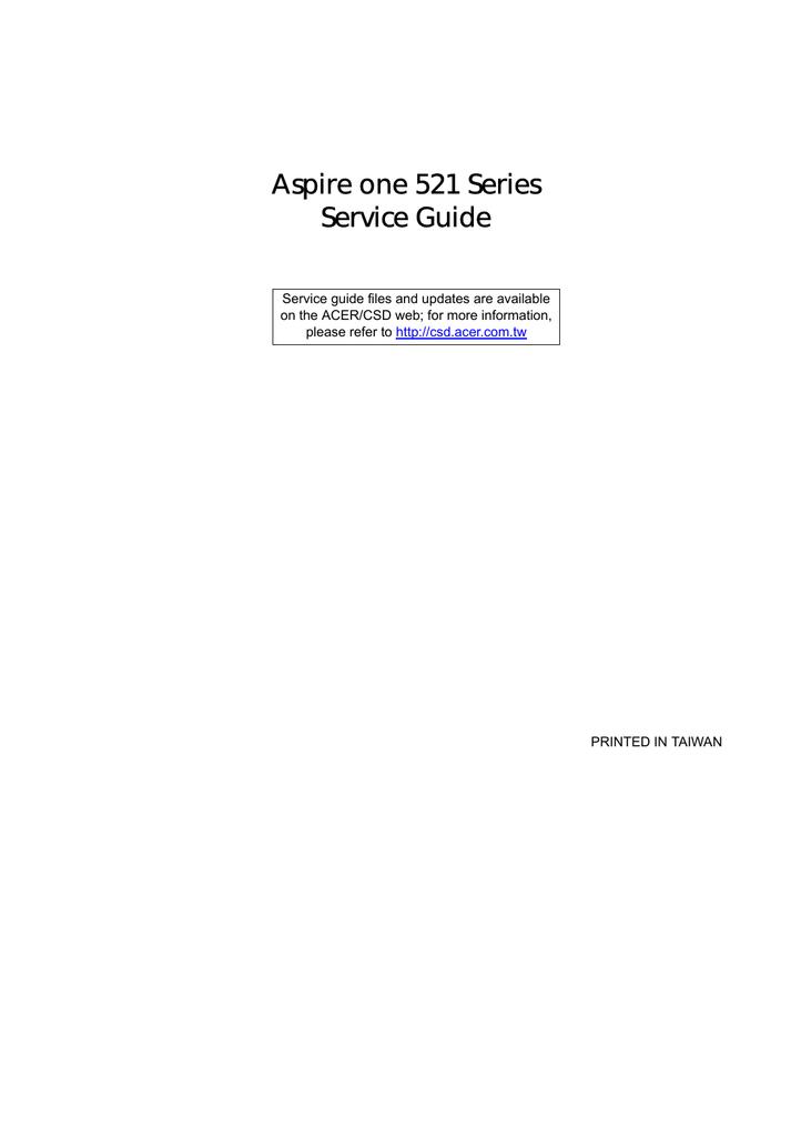 Acer 521 Laptop User Manual | manualzz com
