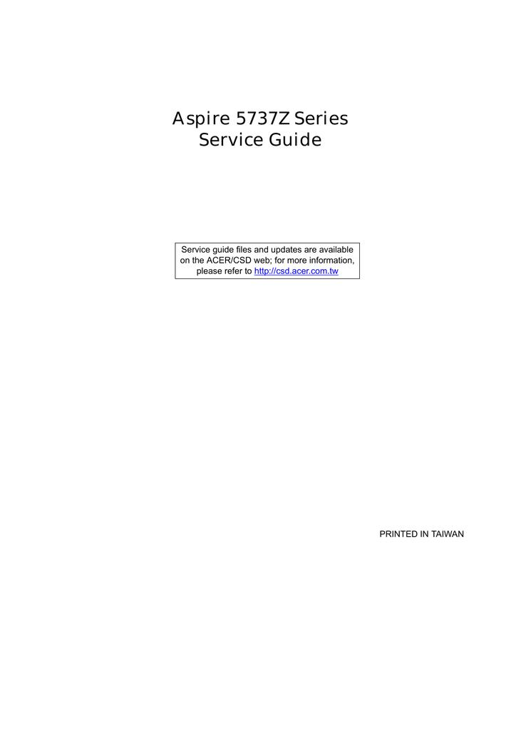 ASPIRE 5737Z COPROCESSOR WINDOWS XP DRIVER DOWNLOAD