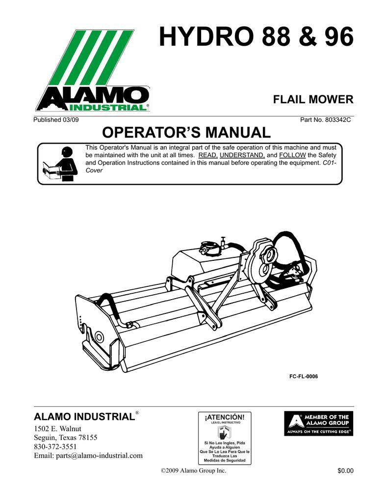 Alamo 88 Lawn Mower User Manual | manualzz com