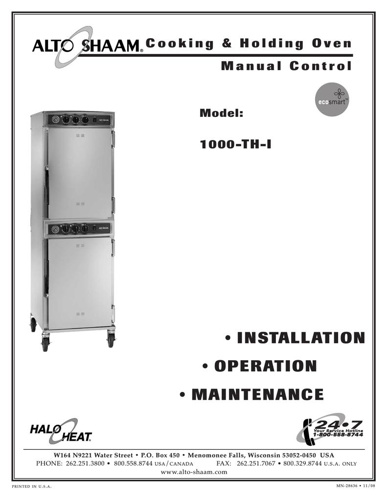 [SCHEMATICS_4CA]  Alto-Shaam 1000-TH-I Oven User Manual | Manualzz | Alto Shaam Wiring Diagram |  | manualzz