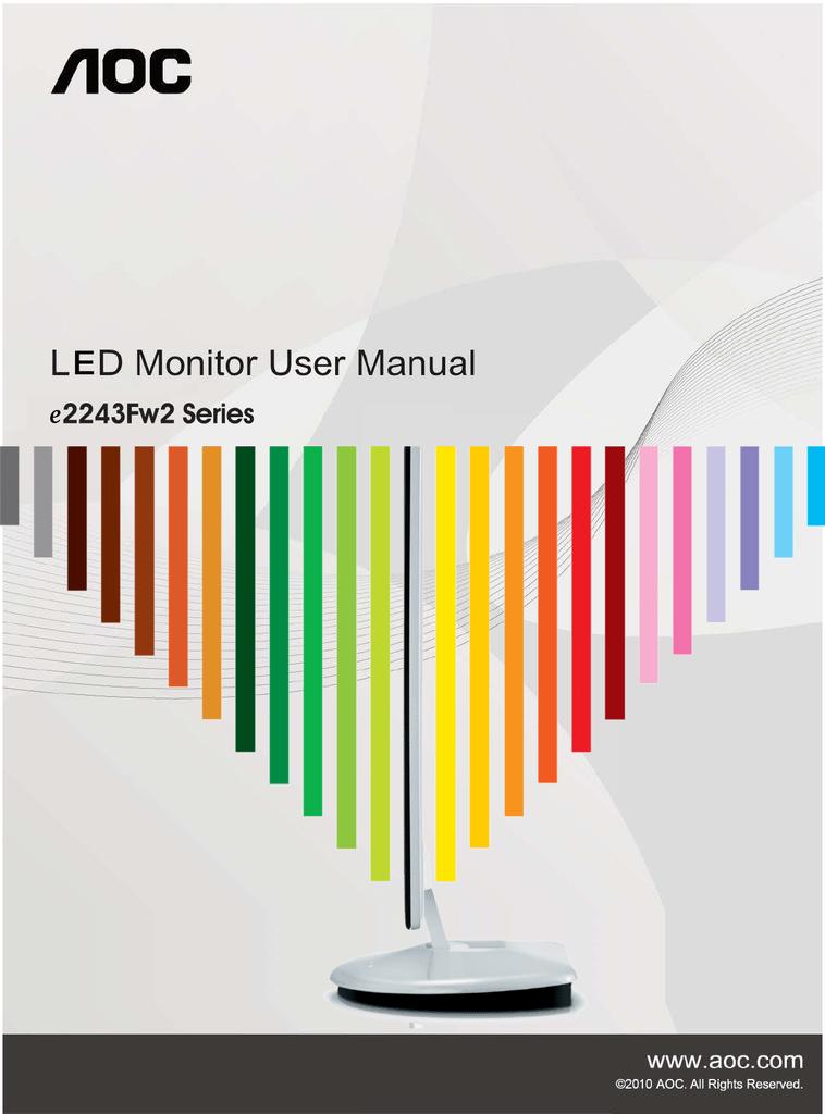 AOC 2219V1 Computer Monitor User Manual | manualzz com