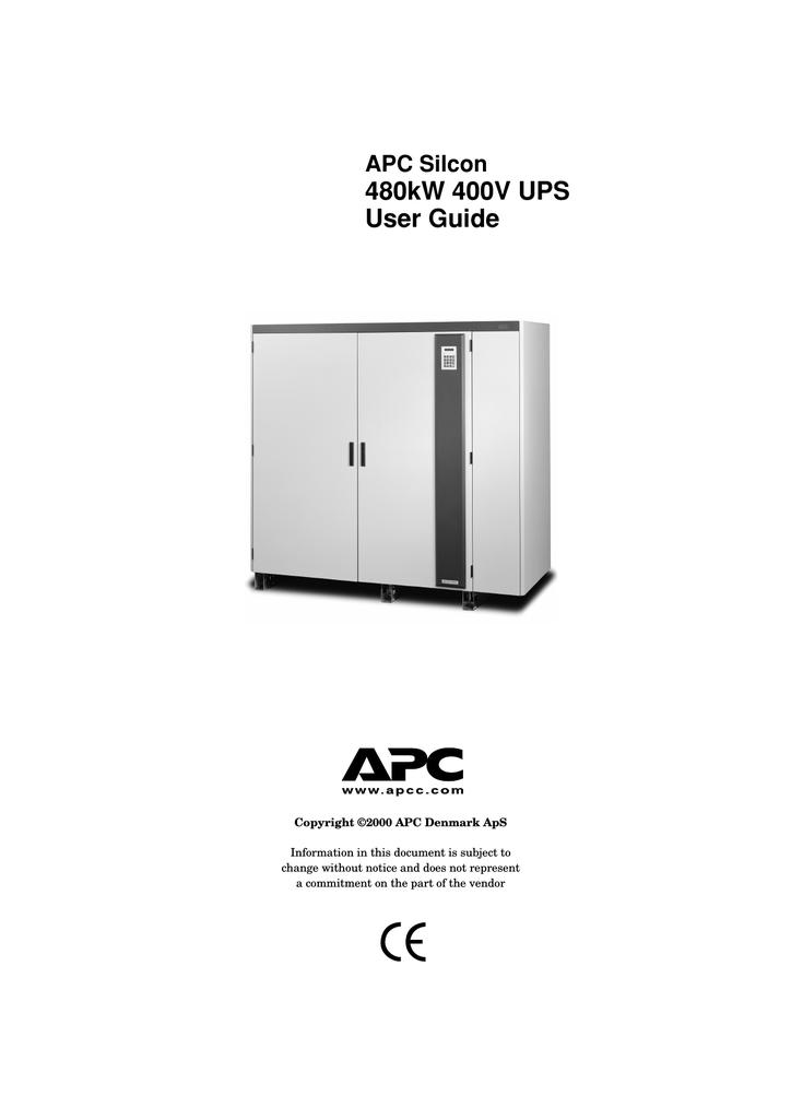 APC 480kW 400V Power Supply User Manual | manualzz com