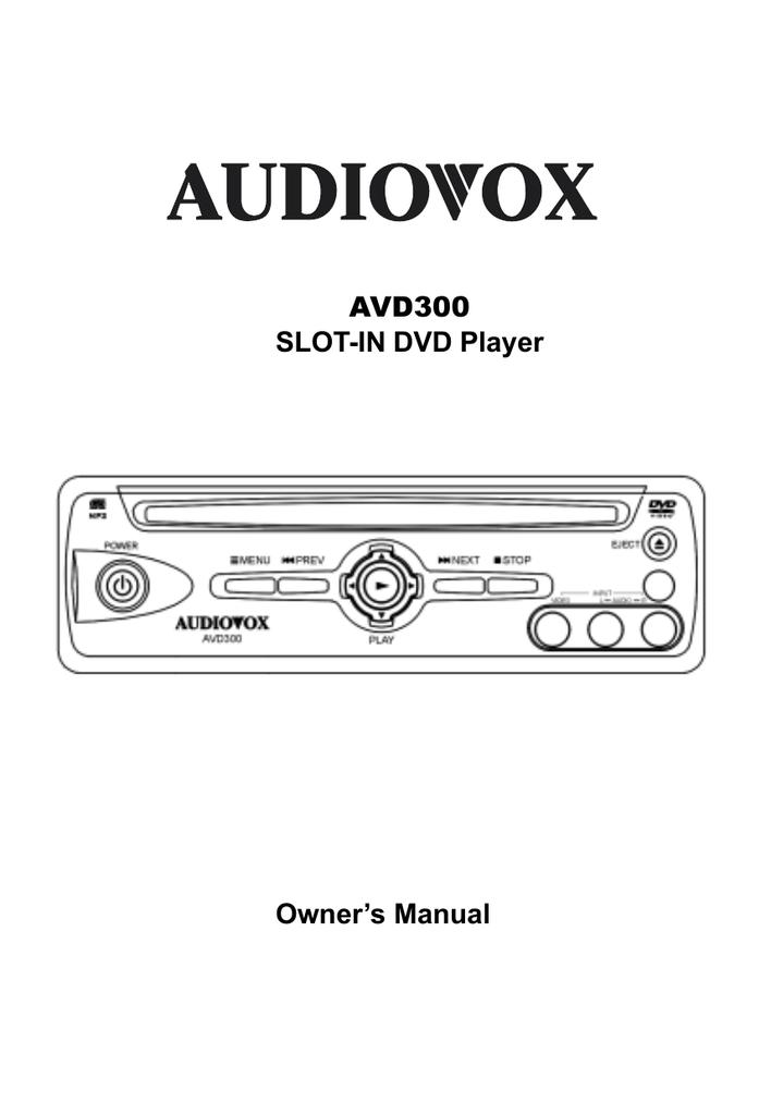 audiovox avd300 dvd player user manual manualzz com rh manualzz com Example User Guide Example User Guide