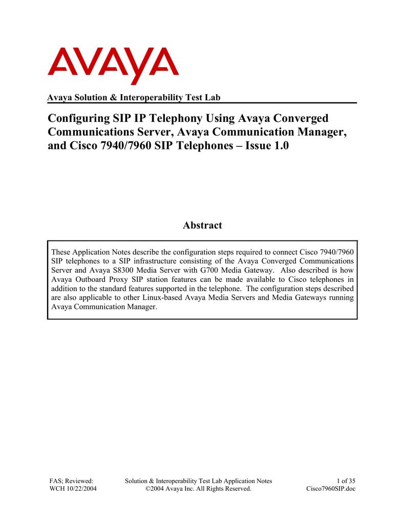 Avaya 7940 IP Phone User Manual | manualzz com