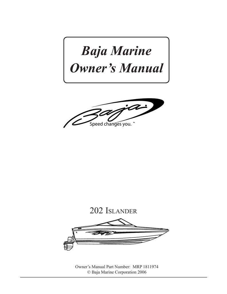 baja marine 202 islander boat user manual manualzz com rh manualzz com Automatic Charging Relay Wiring Diagram Automatic Charging Relay Wiring Diagram