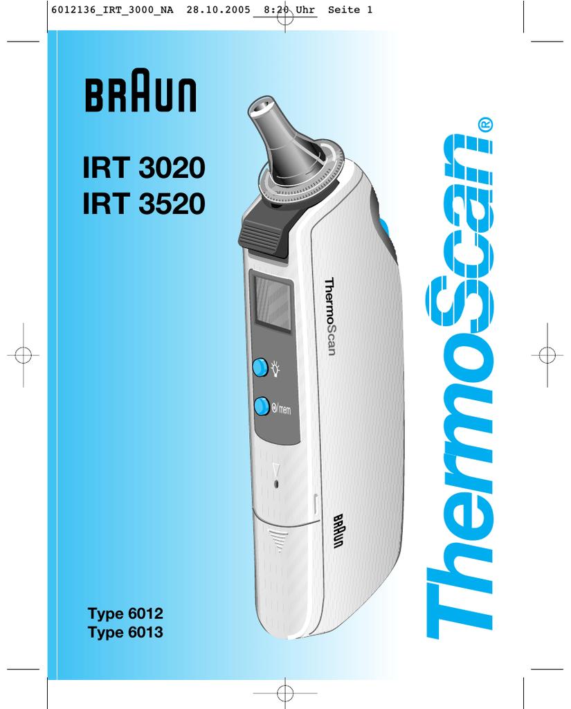Braun 6013 Thermometer User Manual Manualzz