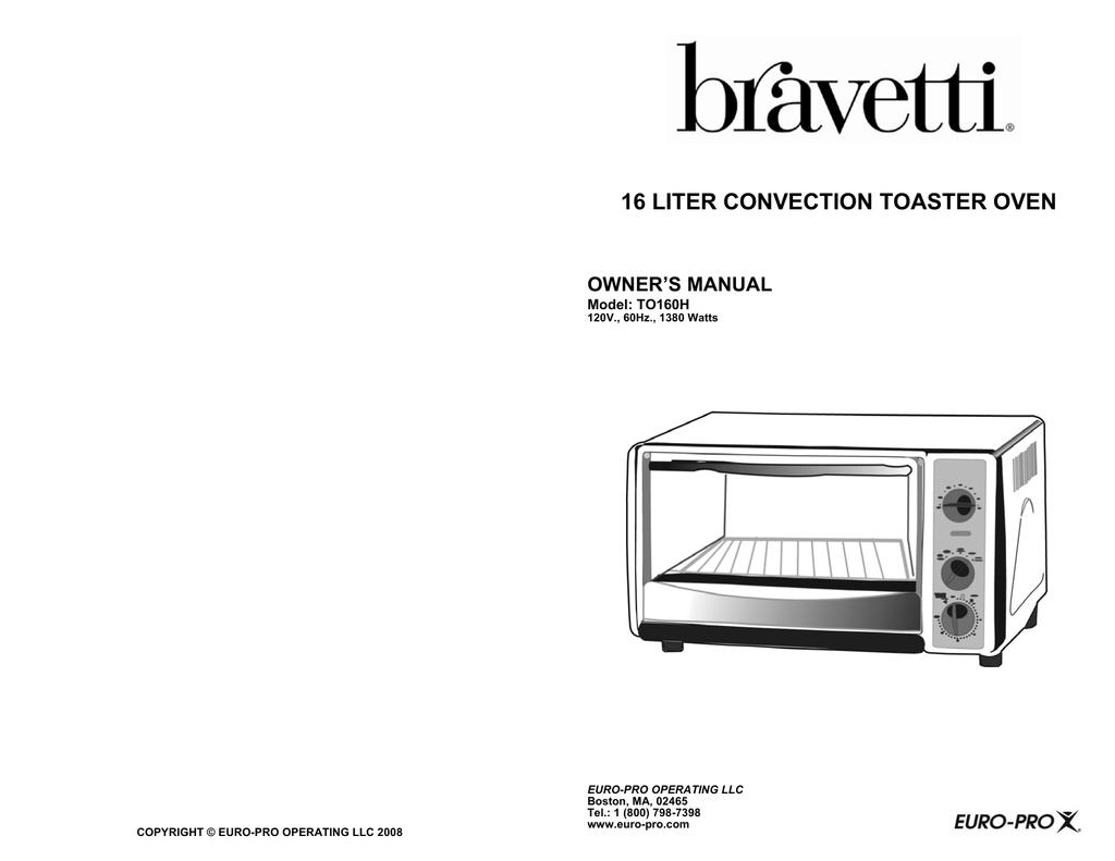 Bravetti To160h Toaster User Manual Manualzz