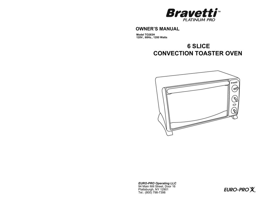 Bravetti To283h Toaster User Manual Manualzz
