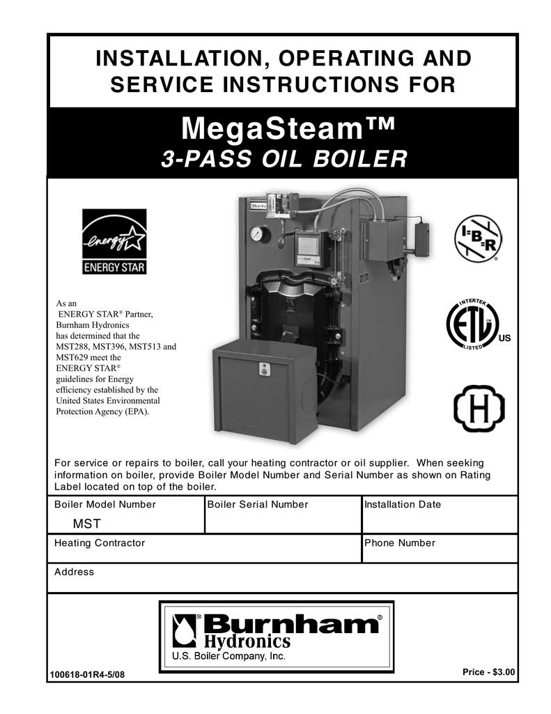 Burnham MST40 Boiler User Manual   Manualzz