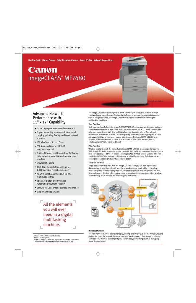 Canon MF7480 All in One Printer User Manual | manualzz com