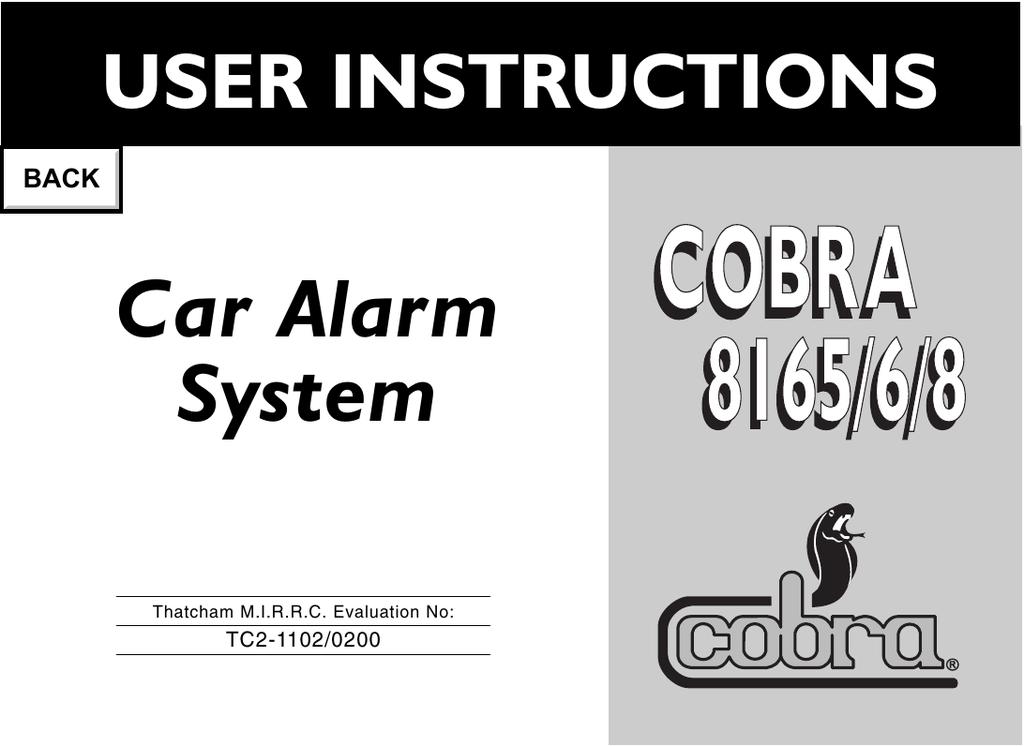cobra 8165 installation manual