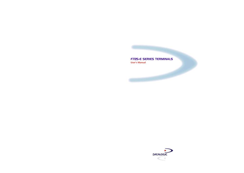 Datalogic Scanning F725-E Series Barcode Reader User Manual