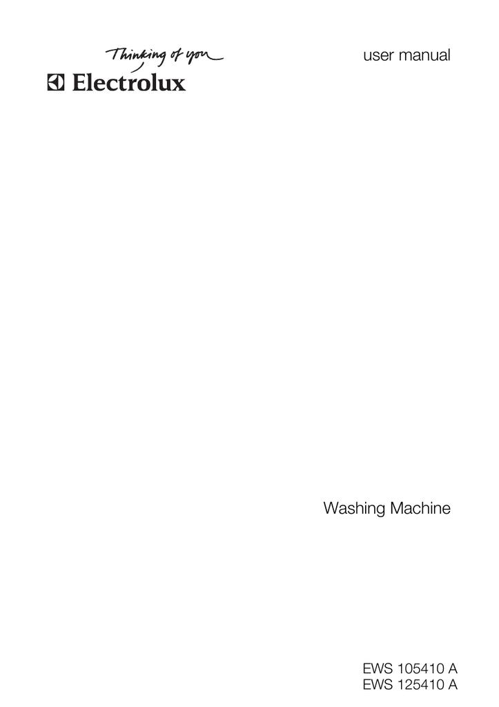 Electrolux EWS 125410 A Washer User Manual | manualzz com