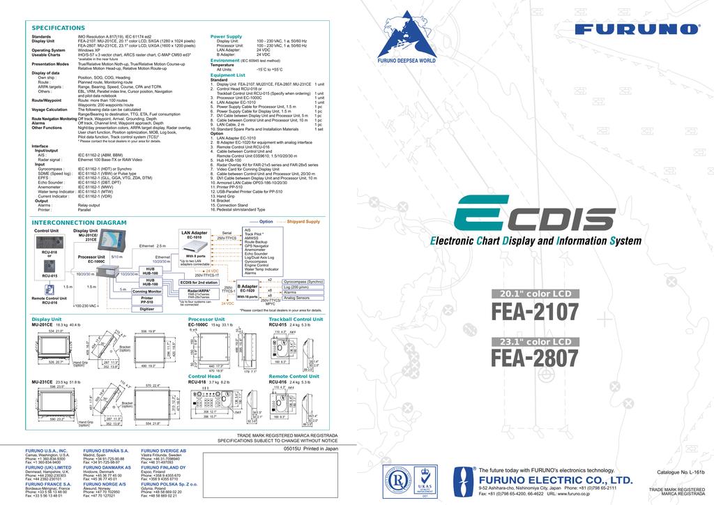 Furuno FEA-2107 Computer Monitor User Manual | manualzz com
