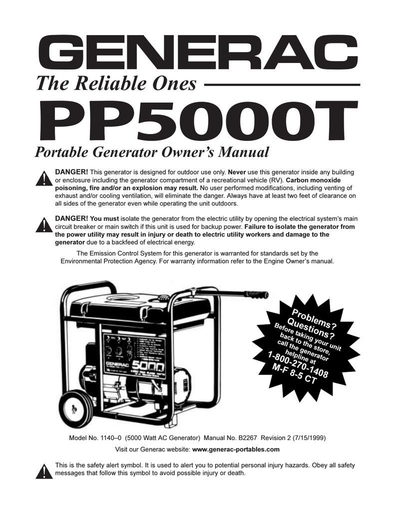 Generac Svp 5000 Portable Generator Manual | Manual Books on generac 5000 watt portable generator, generac 5000 sjp, generac centurion 5000 watt generator, generac 5000 watt power plus, generac 10 hp 5000 watt generator, generac 5000 s owner manual, generac 5000 parts,