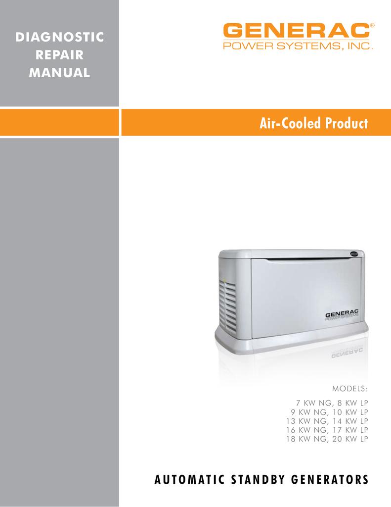 Generac exl 8000 Manual