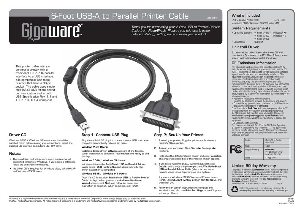 Gigaware 26-184 11A07 Photo Scanner User Manual | manualzz com