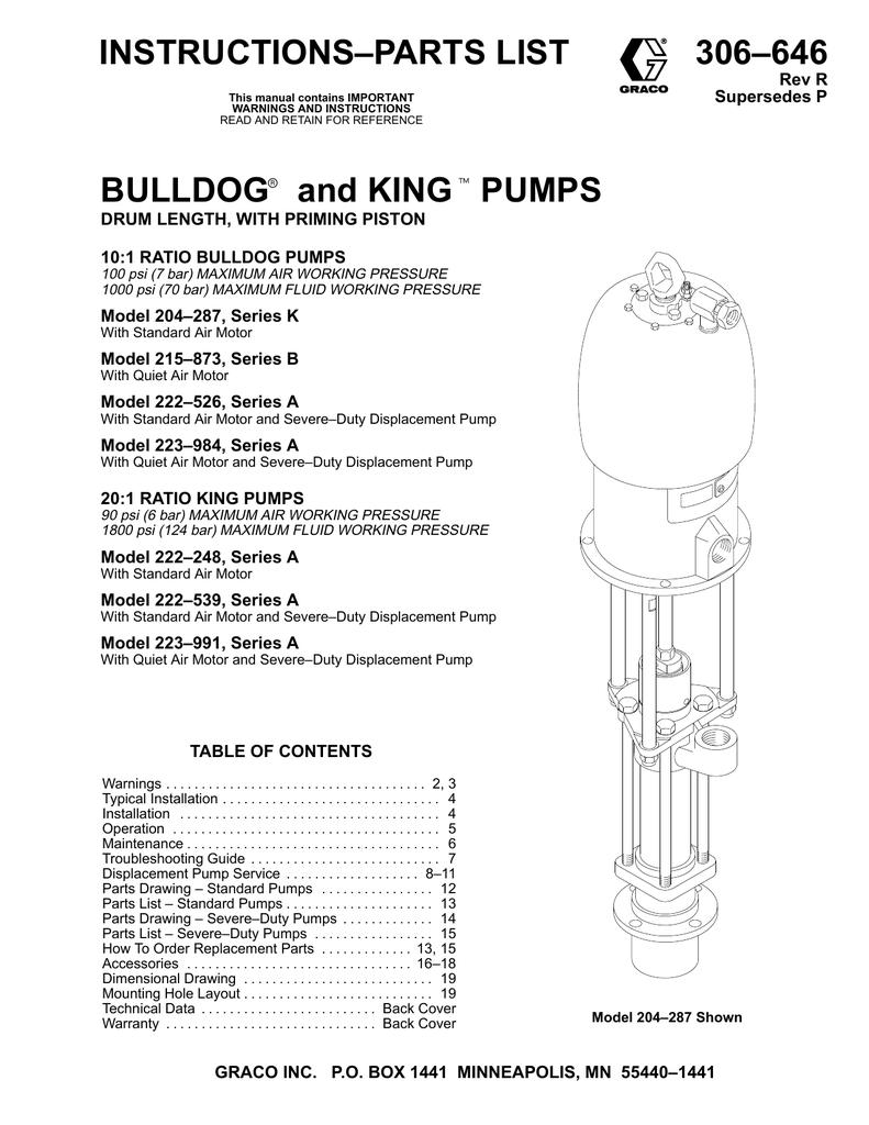 Graco 222248 Water Pump User Manual | manualzz com