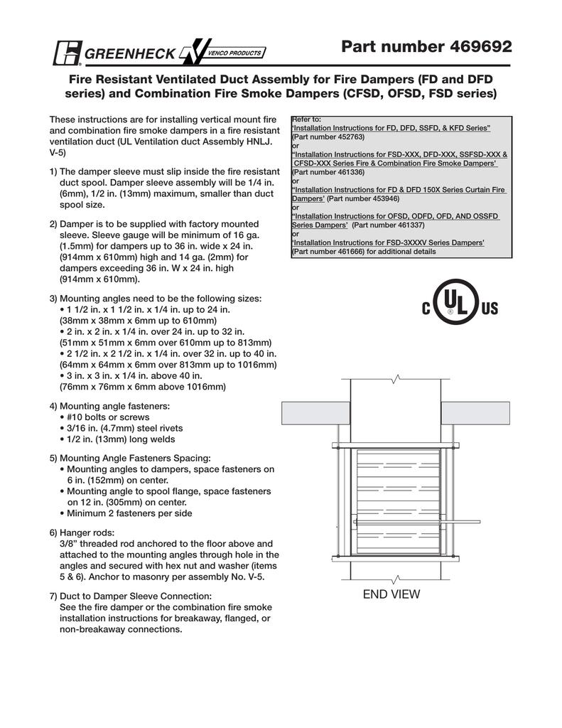 Greenheck Fan CFSD Series Ventilation Hood User Manual | manualzz com