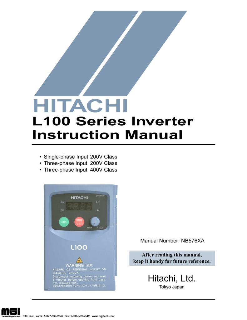 Hitachi L100 Power Supply User Manual | manualzz.com on