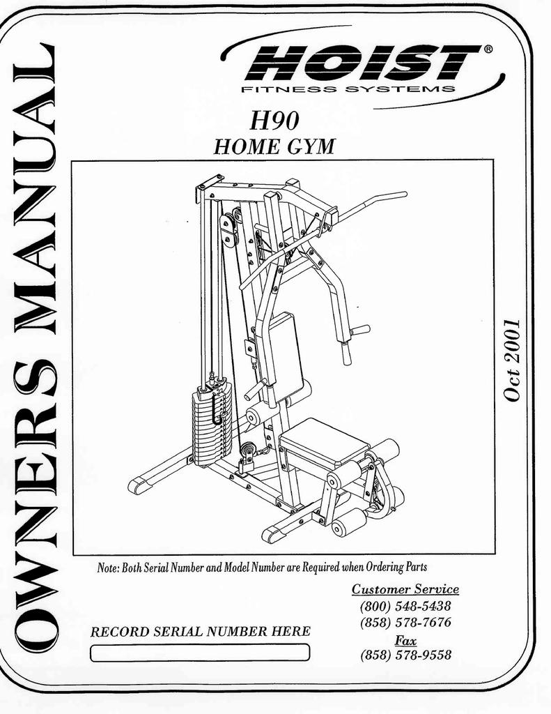Hoist Fitness H90 Home Gym User Manual | manualzz com