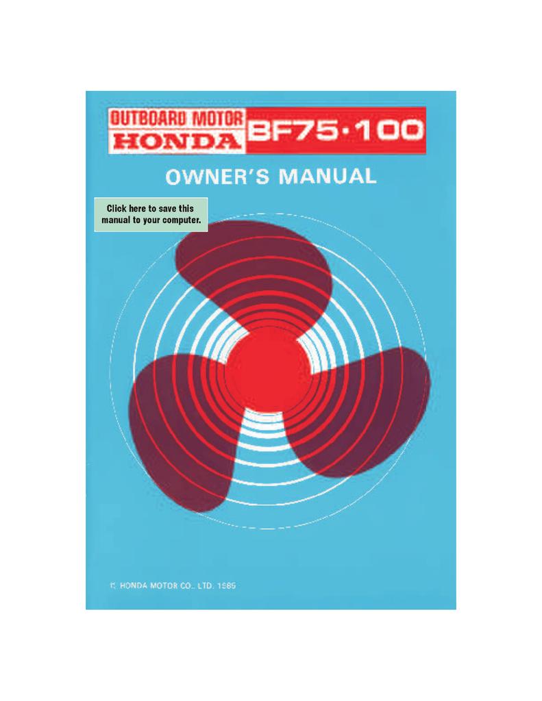 Honda Power Equipment BF75 | manualzz.com on
