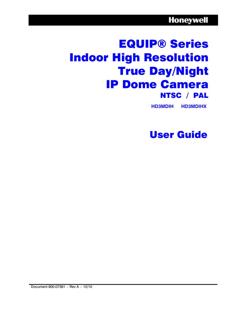 Honeywell HD3MDIP 720P IP Dome Camera TDN NTSC *Tested//Working*