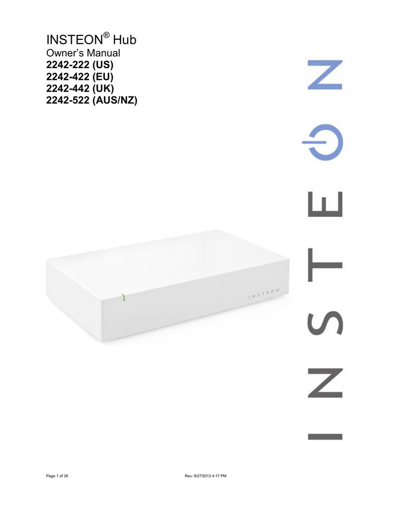 Insteon 2242 222 Switch User Manual 4 Way Wiring Diagram