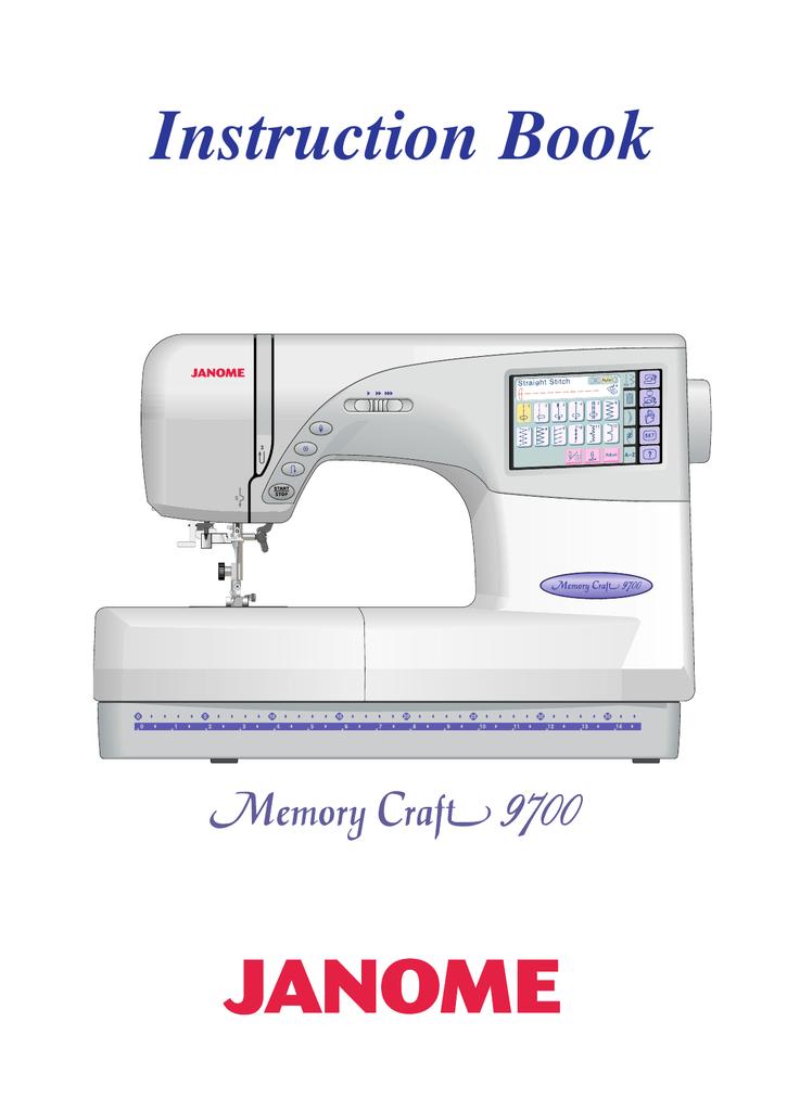Janome 9700 Sewing Machine User Manual | manualzz.com on