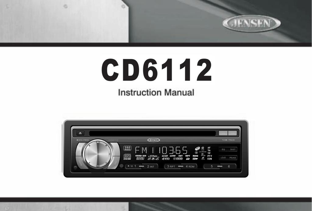 Stupendous Jensen Cd6112 Car Stereo System User Manual Manualzz Com Wiring Database Rimengelartorg