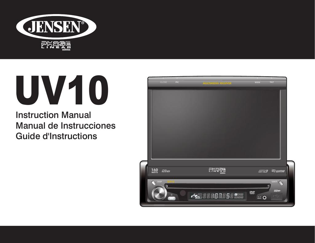 Jensenuv10wiringharness Jensen Uv8 Phase Linear Dvd Player