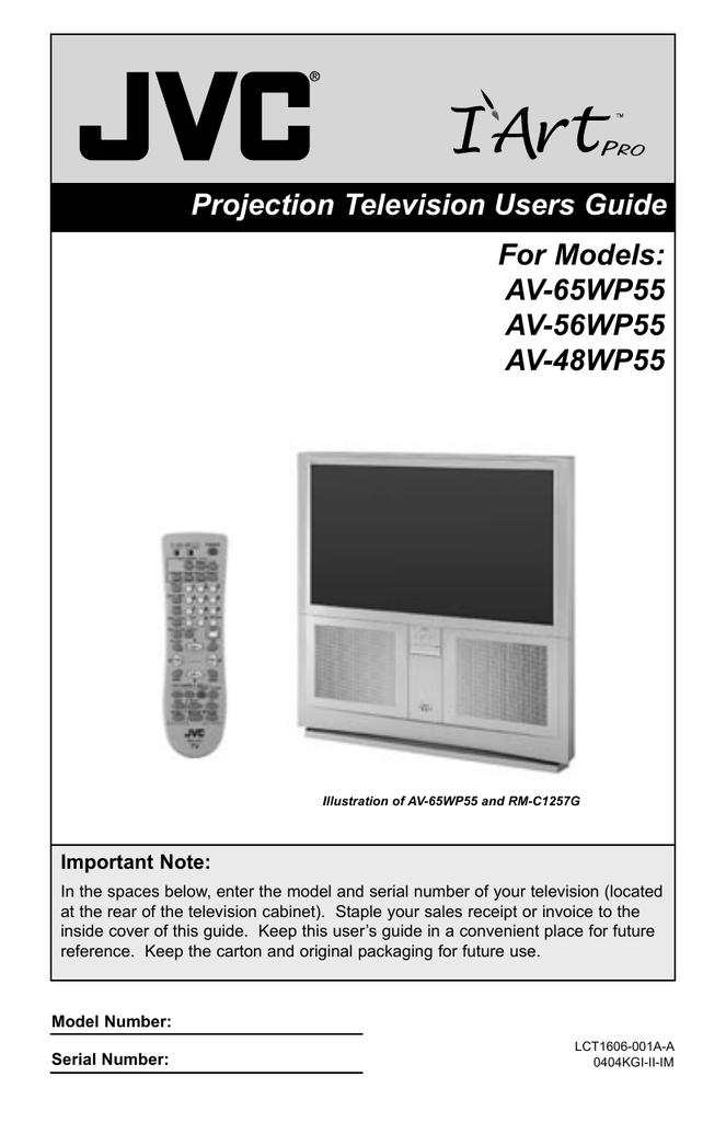 jvc av 48wp55 projection television user manual manualzz com rh manualzz com Pink Television Sony Pictures Television