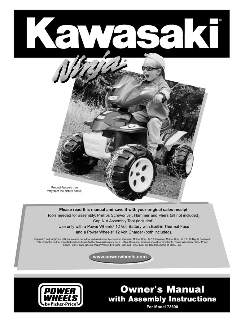 Kawasaki 73690 Motorized Toy Car User Manual Dayton 22846c Wiring Digram