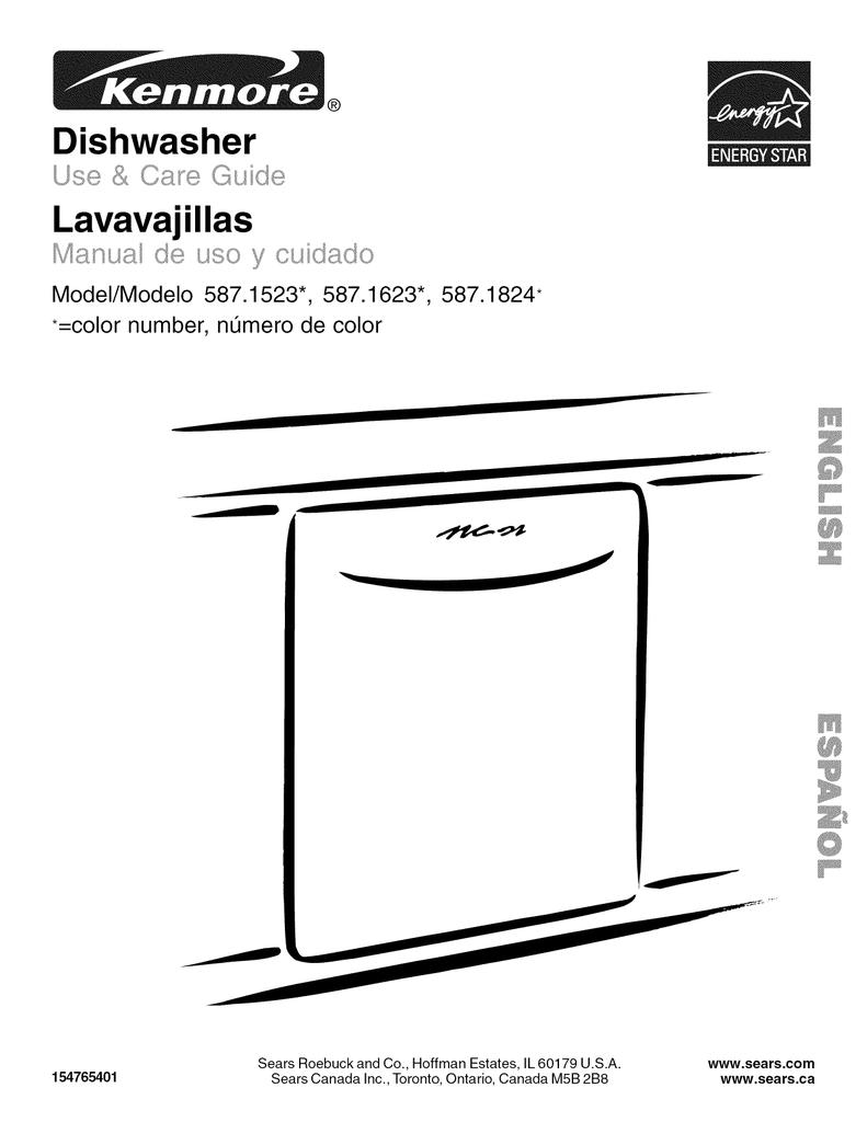 Kenmore 587.1623 Dishwasher User Manual | manualzz.com