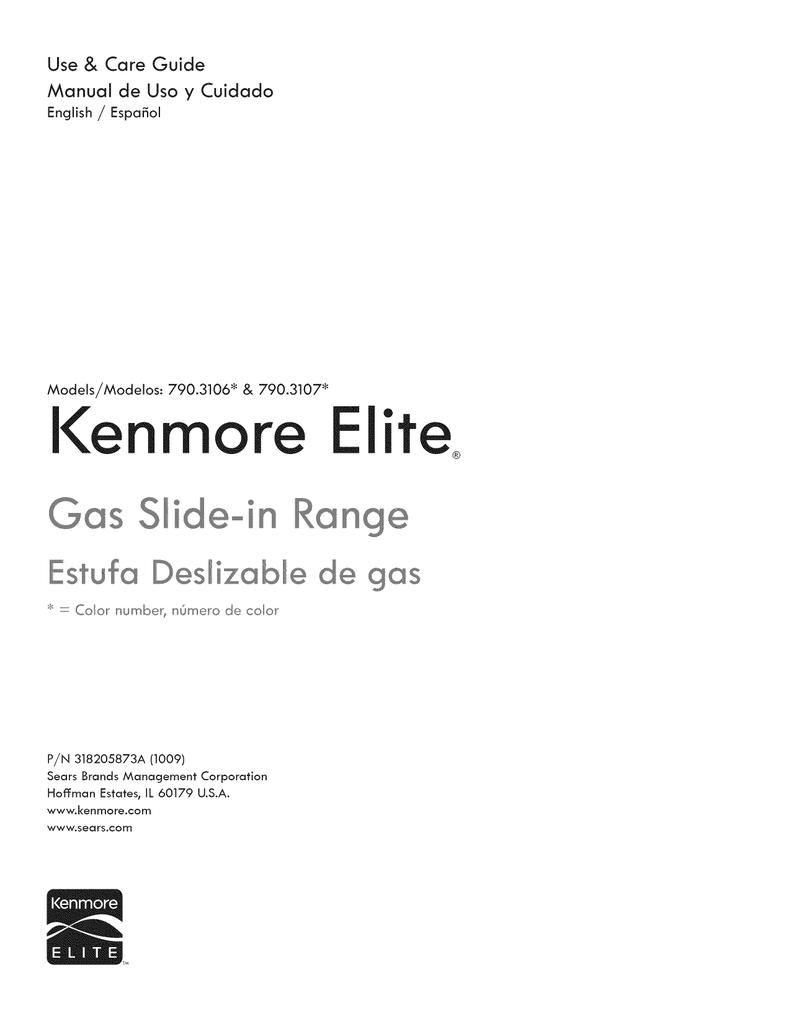 kenmore stove 790 user manual