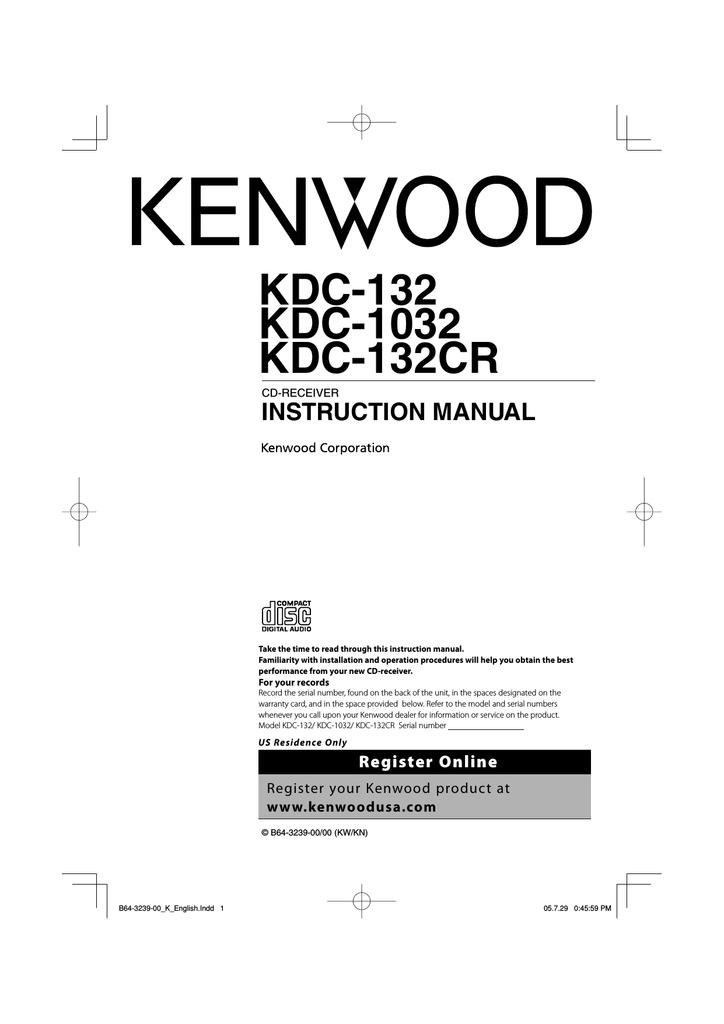 Kenwood KDC-1032 Car Stereo System User Manual   manualzz.com on