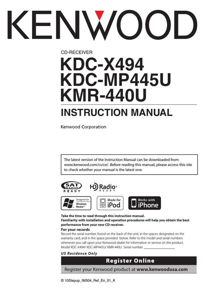 kenwood kdc x494 wiring diagram kenwood kdc mp445u car stereo system user manual manualzz  kenwood kdc mp445u car stereo system