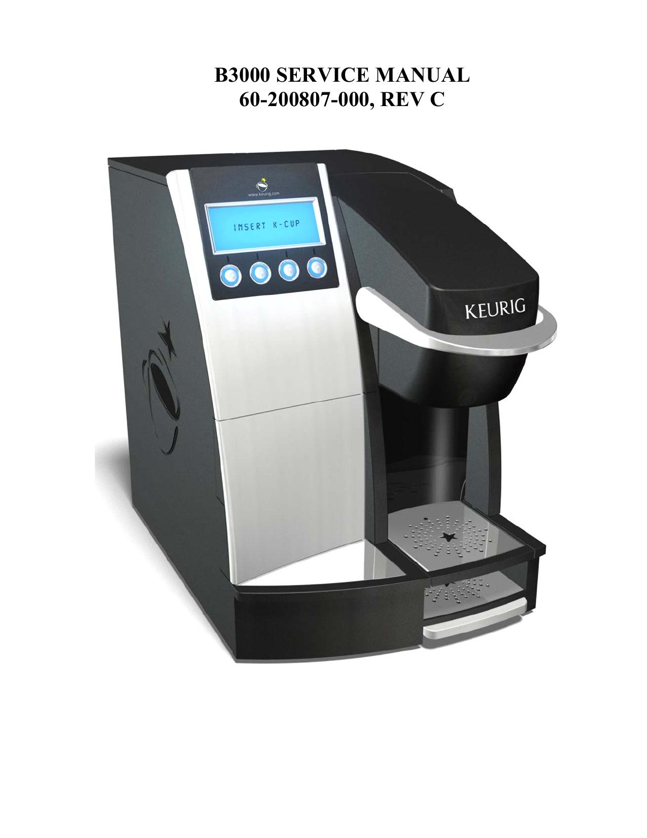 keurig b3000 coffeemaker user manual manualzz com rh manualzz com Keurig B3000SE Manual Keurig B3000SE Manual