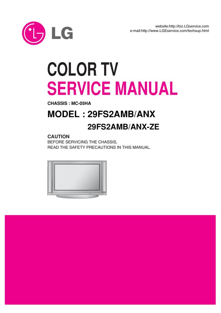 TV LG : Service Manual free download…