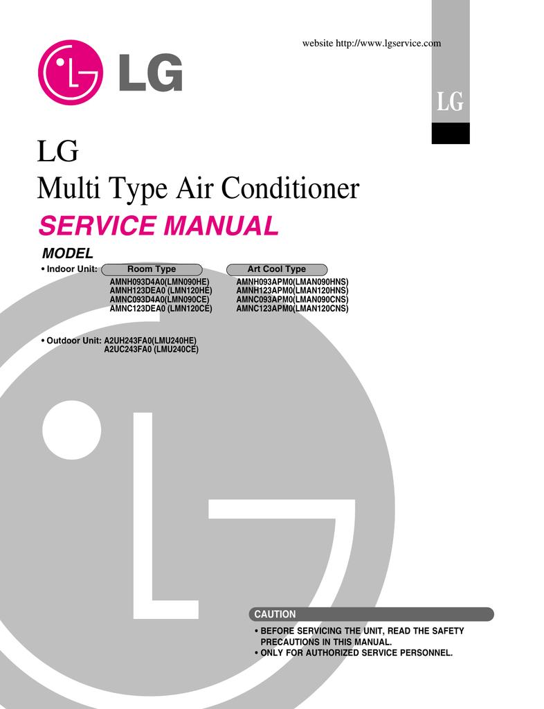 lg electronics a2uh243fa0 lmu240he air conditioner user manual rh manualzz com Cool Aircon Air Con Symbols