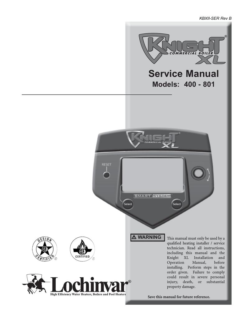 Lochinvar 400 - 801 Boiler User Manual