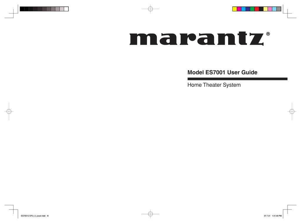 Marantz ES7001 Home Theater System User Manual | manualzz com