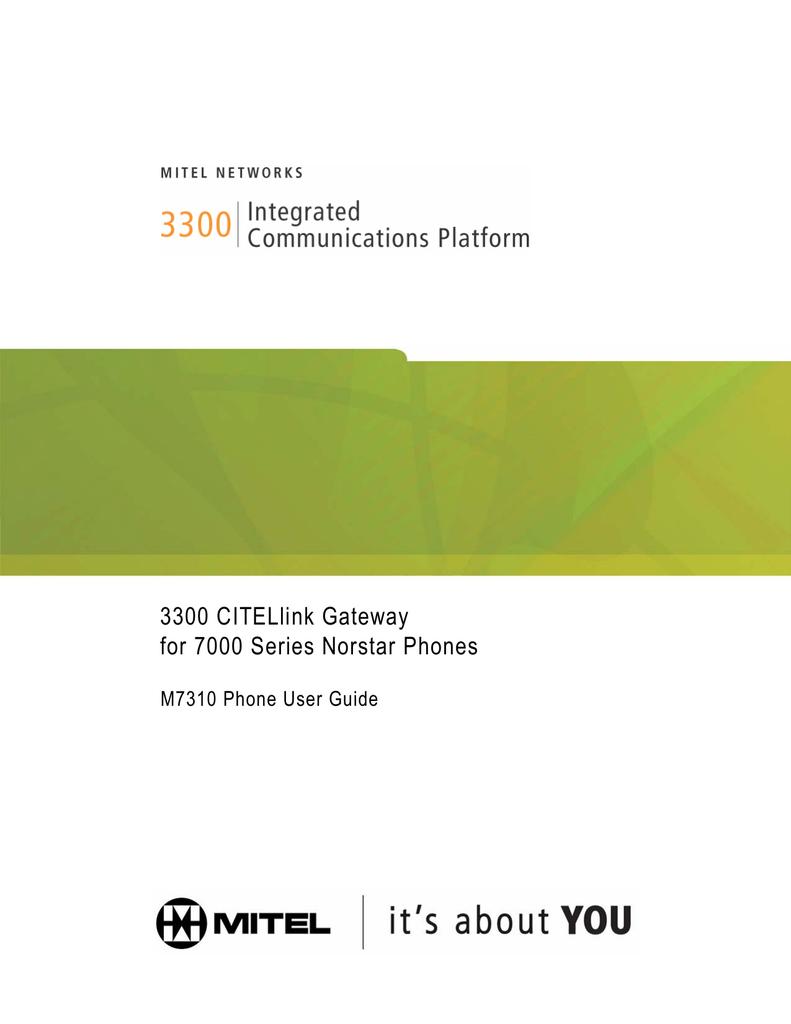 Mitel 7000 Telephone User Manual | manualzz com
