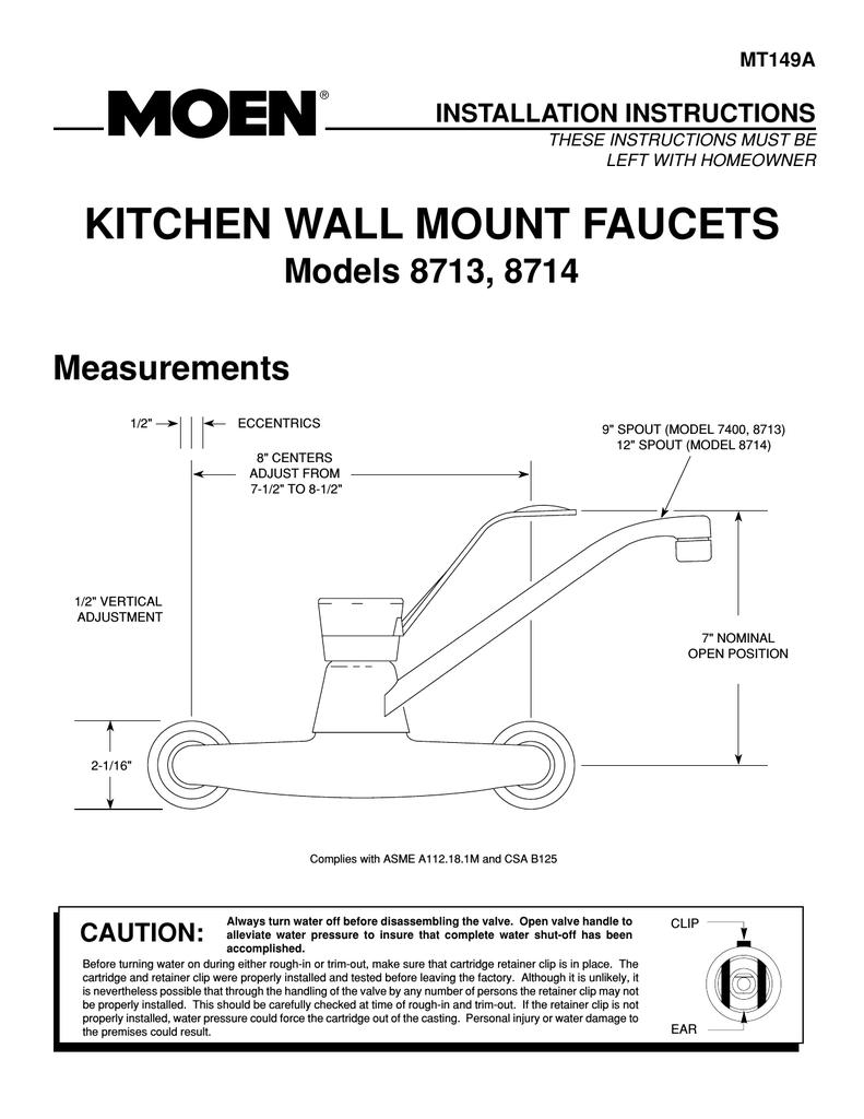 Moen 7600 Kitchen Faucet Repair Diagram Manual Guide