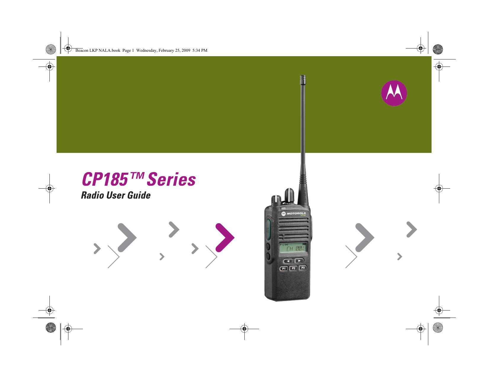 Motorola CP185 Radio User Manual | manualzz com